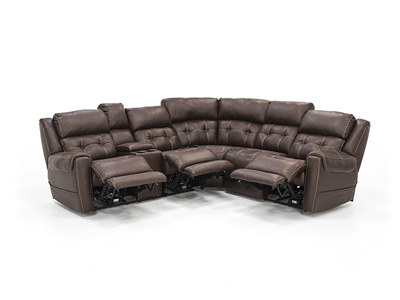 Dalton 3-pc. Espresso Fully Loaded Reclining Sectional