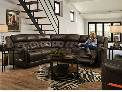Dalton 3-pc. Espresso Fully Loaded Sectional