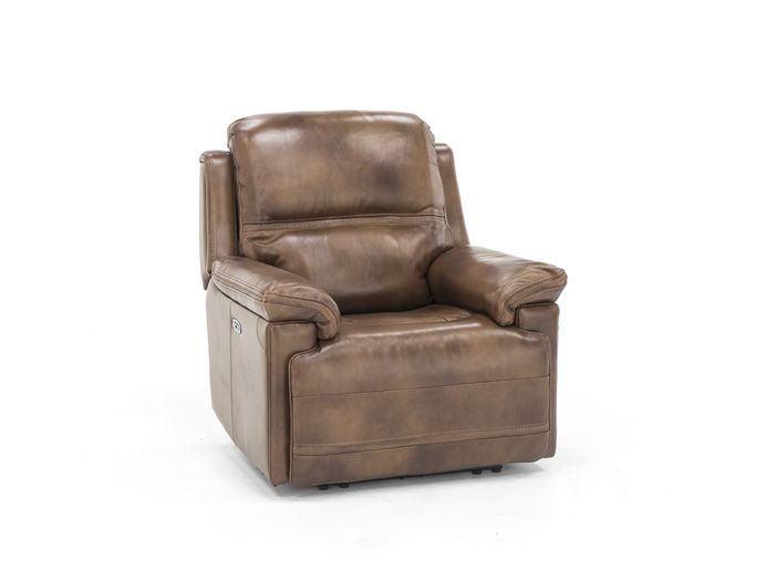 Direct Designs® Prescott Leather Power Headrest Wall Recliner