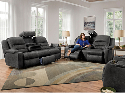 Charger Fully Loaded Recline Sofa
