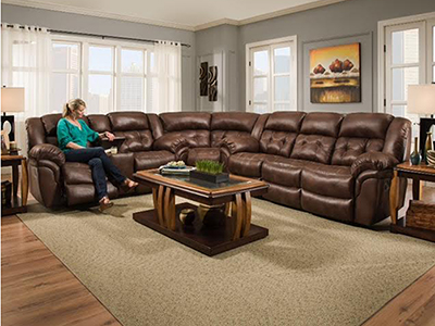 Cheyenne 3-pc. Chocolate Power Recline Sectional