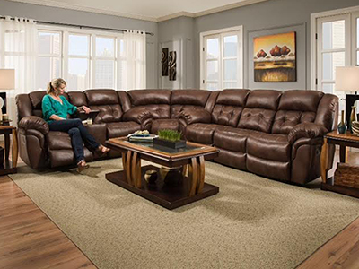 Cheyenne 3-pc. Chocolate Reclining Sectional