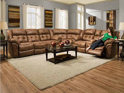 Cheyenne 3-pc. Almond Recline Sectional