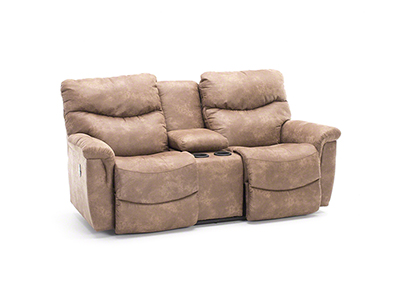 James Power Recline Console Loveseat