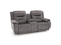 Crescent Power Reclining Console Loveseat