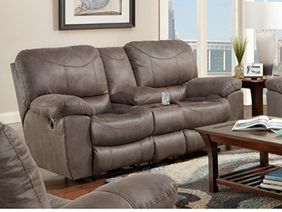 Stetson Power Reclining Console Loveseat