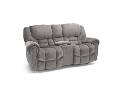 Cozy One Rocker Recline Console Loveseat