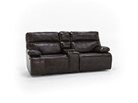 Direct Designs® Clayton Leather Fully Loaded Console Loveseat