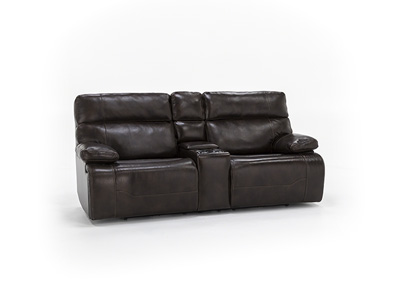 Clayton Power Recline Console Loveseat