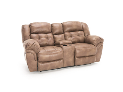 Cheyenne Almond Power Recline Console Loveseat