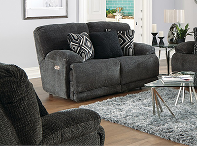 Ramsey Power Lay-Flat Reclining Loveseat