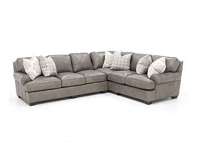 Henson 2-Pc. Leather Sectional