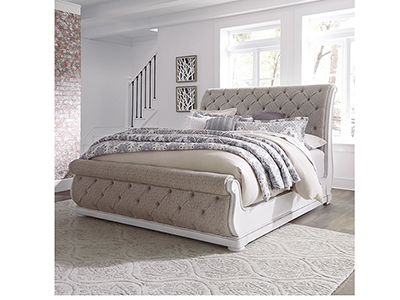 Charleston Queen Upholstered Sleigh Bed