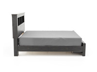 Reylow Queen Bookcase Storage Bed