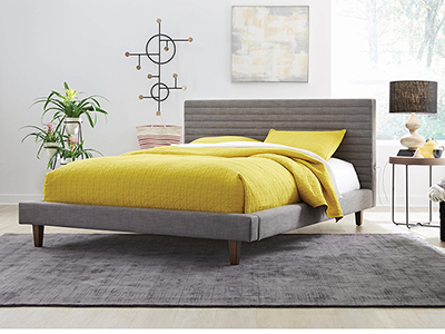 Channel Queen Upholstered Bed