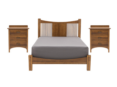 Heartland 3-pc Queen Bed and Two Nightstands