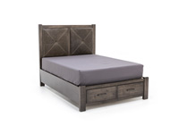 Cool Rustic Queen Leather Storage Bed