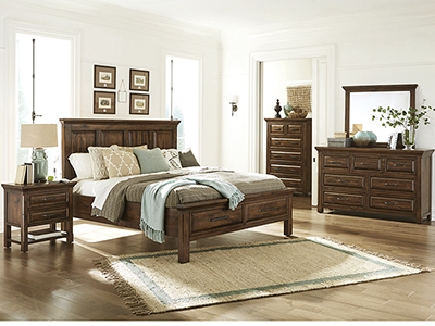Hillcrest Queen Panel Storage Bed