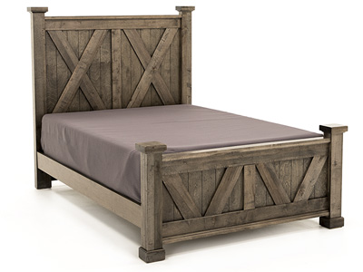 Cool Rustic Queen X Panel Bed