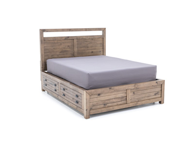 Pine Hollow Queen Bed with 2 Sides Storage