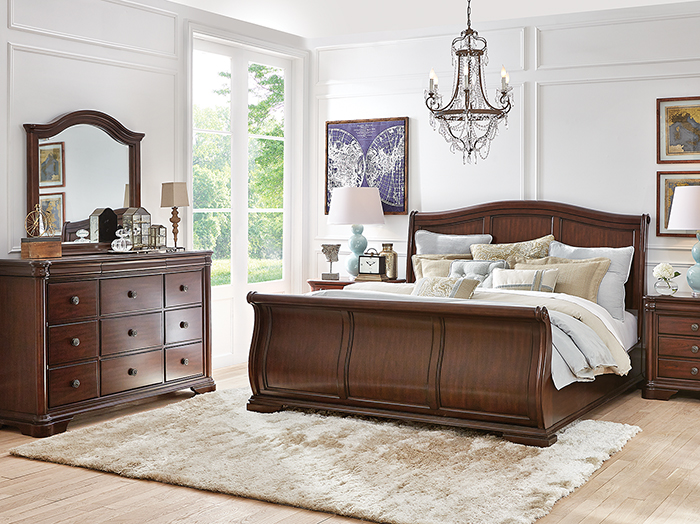 Direct Designs Rochelle King Sleigh Bed Steinhafels