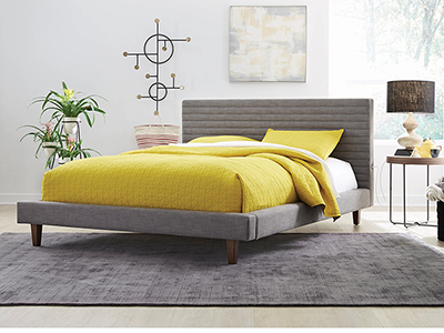 Channel King Upholstered Bed
