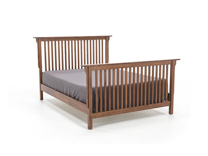 "Witmer American Mission King Slat Bed W/36"" Footboard"