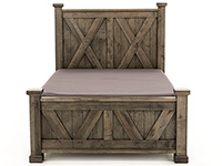 Cool Rustic King X Panel Bed