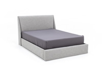 Conversation Smoke King Upholstered Bed