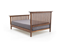 "Witmer American Mission #80 King Slat Bed with 32"" Footboard"