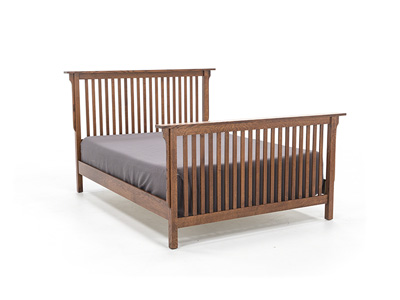 "Witmer American Mission King Slat Bed W/32"" Footboard"
