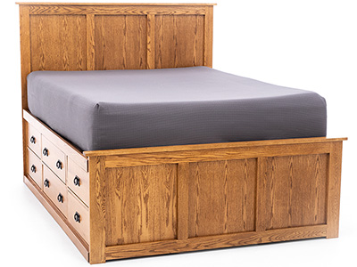 Witmer American Mission #38 King Panel Storage Bed