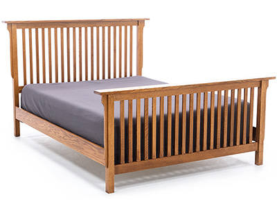 "Witmer American Mission #38 King Slat Bed with 32"" Footboard"