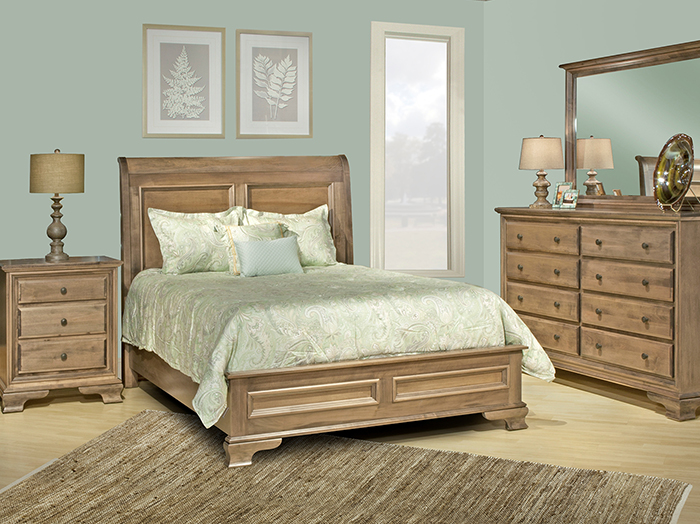 Classic King Sleigh Bed
