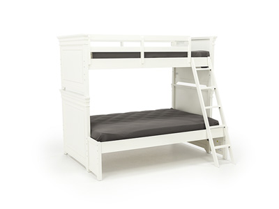 Canterbury White Twin Over Full Bunk Bed