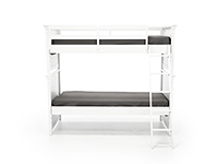 Canterbury White Twin Over Twin Bunk Bed