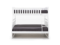 Twin Over Full White Bunk Bed