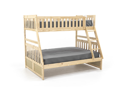 Twin Over Full Natural Bunk Bed