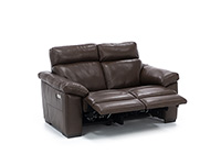 Gianna Leather Power Headrest Reclining Loveseat