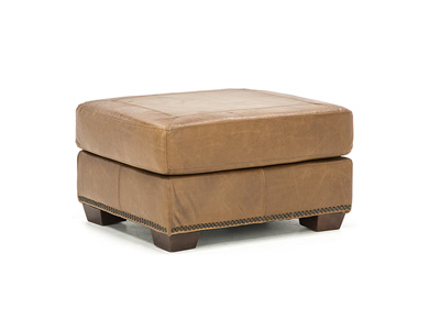 Cedar City Leather Ottoman