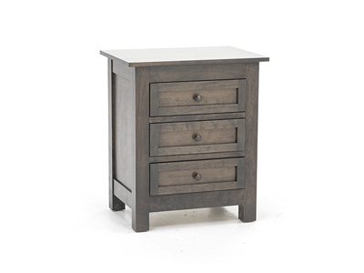 Witmer Taylor J Grey 3 Drawer Nightstand