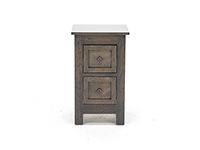 Witmer Taylor J Grey 2 Drawer Nightstand