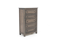 Witmer Taylor J Grey Chest 5 Drawer