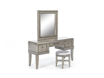 Sophia Vanity with Stool and Mirror