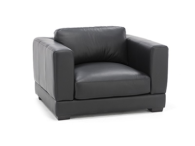 Tuxedo Leather Chair and A Half