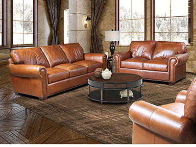 Cedar City Leather Sofa