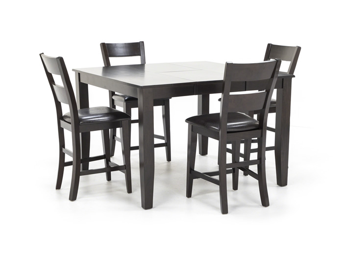 Magnificent Dark Rustic 5 Pc Counter Height Dining Set Spiritservingveterans Wood Chair Design Ideas Spiritservingveteransorg