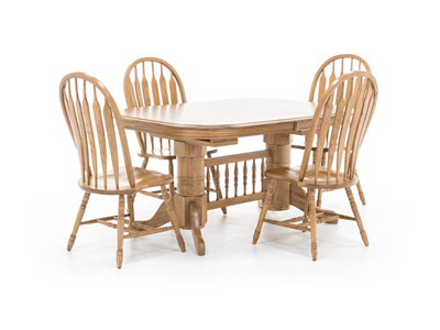Oak Trestle 5-pc. Dining Set