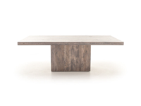 "42"" x 88"" Loft Pedestal Dining Table"