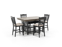 Ashbrook 5-pc. Counter Height Dining Set - Black
